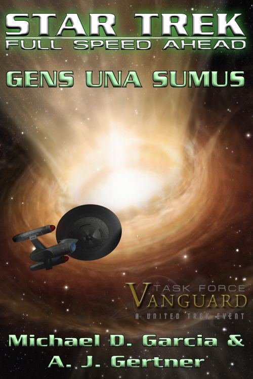 Cover Credits: Ambassador-class mesh by S. Matthew Coles. Wormhole art by ESO/M. Kornmesser, Lettering and layout by Michael D. Garcia, Task Force Vanguard logo by CeJay.